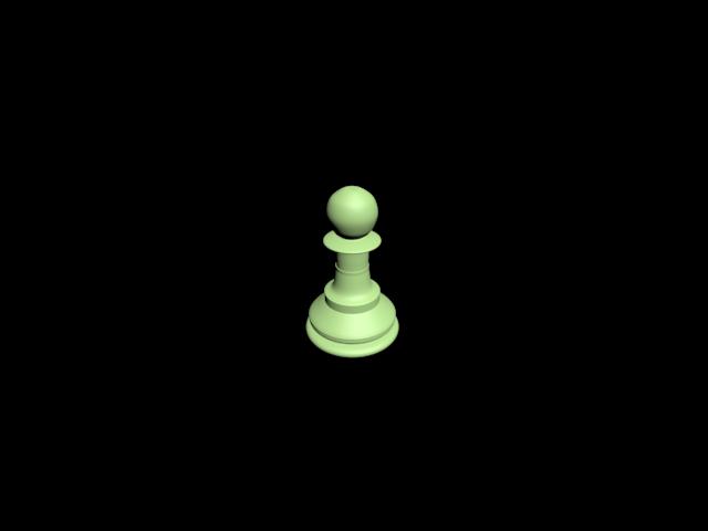 3D chess Pawn