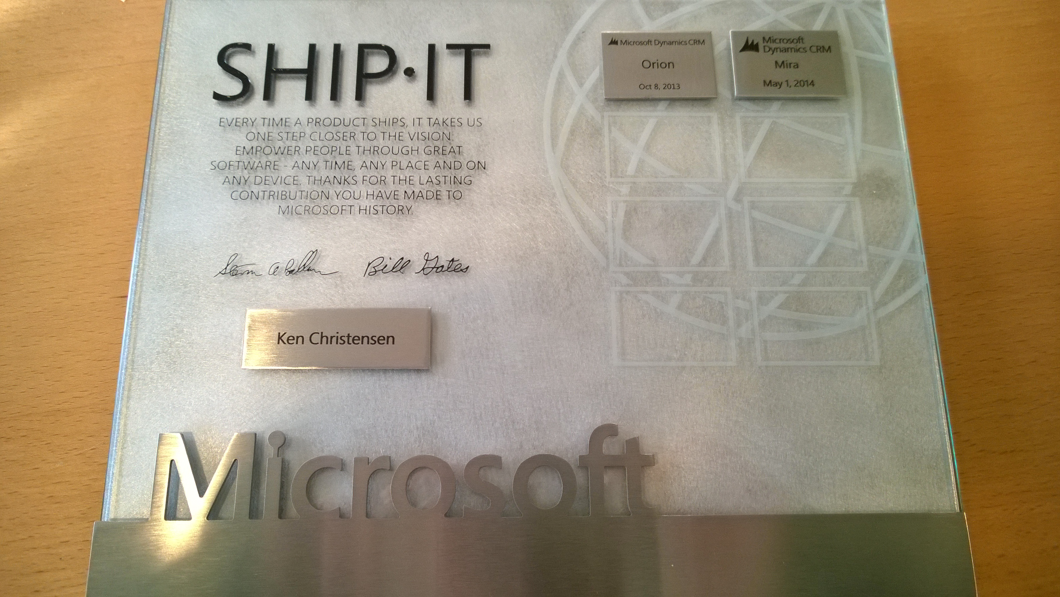 Ship-it plate and tags