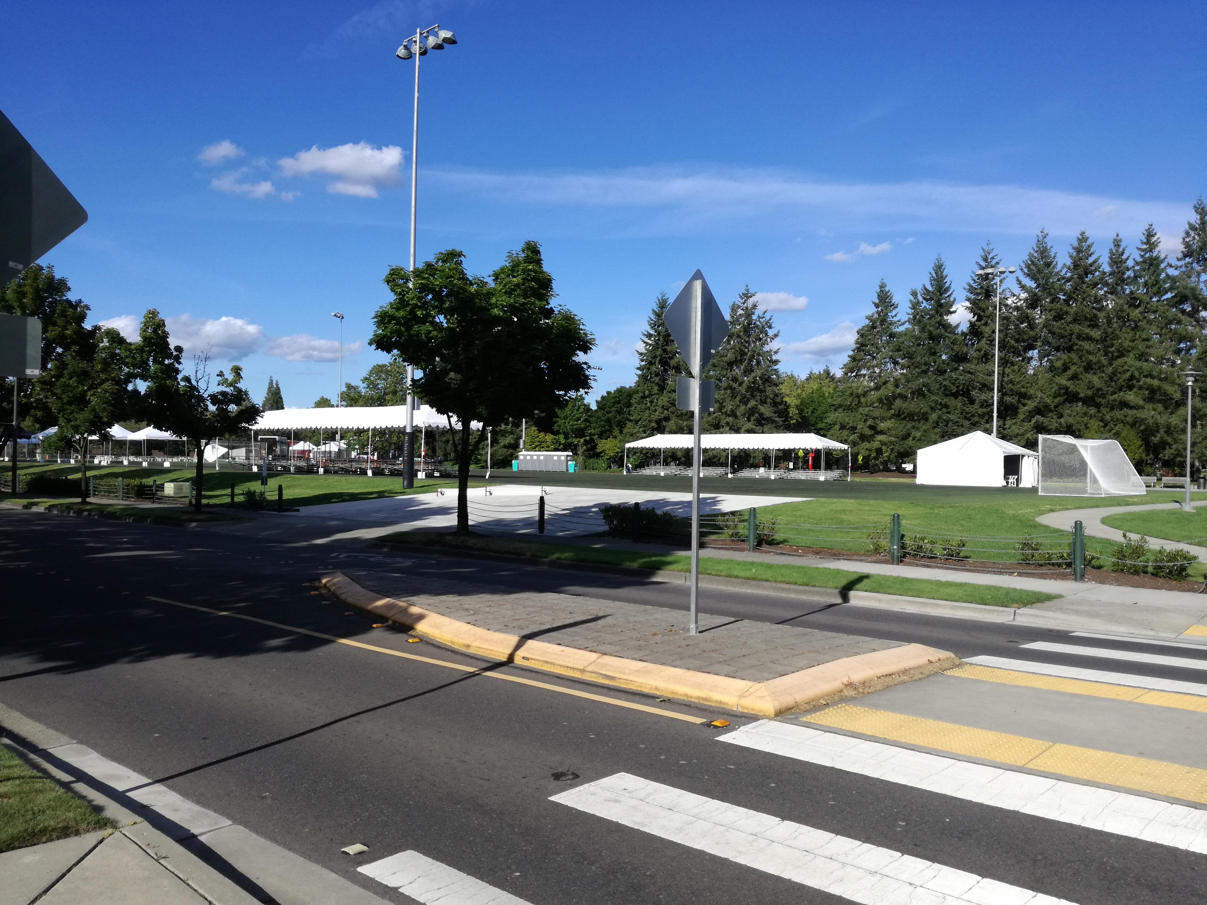 Redmond soccer fields area